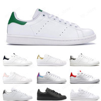 ingrosso arcobaleno piatto-classic smith men women flat sneakers green black white blue oreo rainbow stan fashion Casual mens trainer outdoor sports shoes 36-44