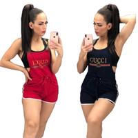 tasarımcı tulum takımı toptan satış-Kadınlar tasarımcı marka lüks spor Tulumlar Tulum jartiyer diz üstü kolsuz ayarlanabilir doğal renk şort yaz giysileri