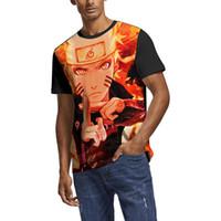 ingrosso mens bianchi maglietta vuote-Uzumaki Naruto Anime Summer Mens T Shirt camicie bianche Custom T Shirt Divertente stampa Christian Blank Camicia nera