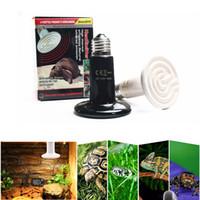 lámpara de calor para mascotas al por mayor-E27 Lámpara de calefacción para mascotas Infrarrojo Emisor de cerámica Bombilla de calor Pet Brooder Pollos Reptil Lámpara 25W 50W 75W 110-130V o 220-240V