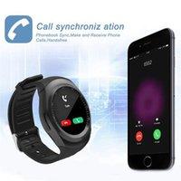 u8 smartwatch sim оптовых-Смарт-часы Y1 Поддержка Nano SIM-карты и TF-карты SmartWatch ПК GT08 U8 Носимых Smart Electronics Stock для iOS Android pk v365