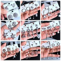 glänzend baumeln ohrringe groihandel-Neue Ohrringe 925 Silber Pin Hot Korean Dangle Shiny Strass Drop Farbe Temperament Zirkon lange exquisite Ohrringe Micro Ohrstecker Mix