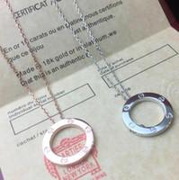anel de ouro rosa 18k para mulher venda por atacado-Designer de Jóias LOVE Anel Colar Banhado A Ouro 18 K Parafuso Colar com Platina de Ouro Rosa de Luxo mulher amor presente 2 cores