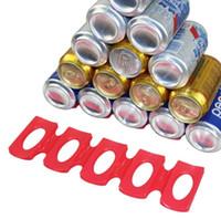 protector de nevera al por mayor-Soporte de almacenamiento de la lata de silicona Nevera Espacio Saver Organizador de la cerveza Estera de almacenamiento Estera de lata Herramienta de la cocina OOA6887