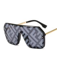 ingrosso occhiali colorati-2019 occhiali da sole occhiali da sole oversize occhiali da sole da donna personalità siamese colorato boutique di tendenza tendenza cool occhiali 15 COLORE