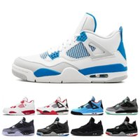 Wholesale money arts resale online - Cheap Top s men basketball shoes White Cement Pure Money Royalty Thunder Bred oreo Toro Bravo Sports sneakers shoes US