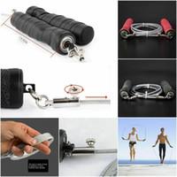 fios de salto venda por atacado-Formação de fio de aço ajustável Crossfit Gym Exercício velocidade Skipping Jump Rope
