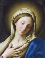 Wholesale beautiful oil paintings art resale online - BEAUTIFUL VIRGIN MARY lady holy god lord Jesus Home Decor Handpainted HD Print Oil Painting On Canvas Wall Art Canvas Pictures