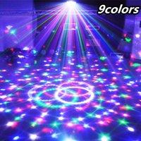 ingrosso sfera magica principale controllata dal suono-9 colori 27W sfera magica di cristallo ha condotto la lampada della fase 21 modo luce laser del discoteca accende il controllo del suono DMX laser di Lumiere