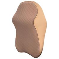 massagesitze autos großhandel-1 PC-Raum Baumwolle atmungsaktiv Auto-Kopfstütze Sitzkopfnackenstütze Massage Memory-Foam-Kissen Halsschutz Schutz Ruhekissen