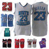 north carolina 23 basketball jersey großhandel-NCAA North Carolina Tar Heels 23 von Michael Jersey Vince 15 von Carter Atlanta # 55 von Mutombo Basketball Jerseys College Basketball Wears