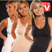frauen cami shaper großhandel-Cami Shaper von Genie Bewertungen mit integrierten BHs Body Shaper mit Pads BH für Frauen