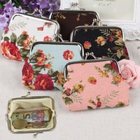 Wholesale cute exquisite gifts for sale - Group buy High Quality Women Girl Vintage Canvas Floral Coin Purse Styles Classic Clutch Pouch Exquisite Buckle Cute Small Wallet Gift M058F