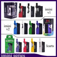 las baterías encajan v2 al por mayor-100% auténtico Imini Icart v2 Kit con 0,5 / 1,0 ml cartuchos Precalentar batería Mod Fit libertad v1 v9 v14 ac1003 vs batería vmod Musketeer uni
