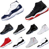cajas de zapatos de baloncesto para la venta al por mayor-Caliente venta zapatos de baloncesto 11s Corcond Gamma azul platino tinte Cap y vestido Space Jam diseñador para hombre mujer deportes zapatillas sin caja