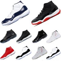 erkekler için basketbol ayakkabıları toptan satış-Sıcak Satış Basketbol Ayakkabıları 11 s Corcond Gama Mavi Platin Tonu Cap Ve Kıyafeti Uzay Reçel Tasarımcı Erkek Kadın Spor Sneakers Kutusu Olmadan