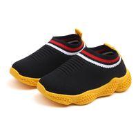 ingrosso marche di panno per neonati-Scarpe per bambini Casual Net Cloth in tessuto Baby Boy and Girl Sneaker Luxuy Scarpe sportive di marca per bambini Taglia 22-33