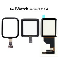 ingrosso orologio nero-Sostituzione vetro frontale nero per touch screen Digitizer Assembly per Apple Watch iWatch 38mm 42mm 40mm 44mm Series 1 2 3 4