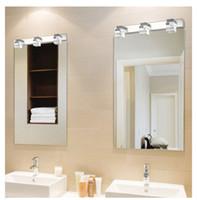 ingrosso specchio di cristallo moderno-Ad alta potenza specchio del LED faro camera da letto moderna lampada di cristallo lampada bagno contratta decorazione bagno