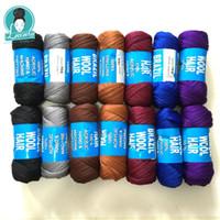 For Braiding 14bundles 70g per bundle Brazilian wool hair low temprature flame retardant synthetic fiber for box braids