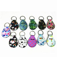 Wholesale lips patterns resale online - Fashion Flower Pattern Keychains Coin Holder Lip Palm Holder Floral Print Metal Key Ring Party Gift TTA890