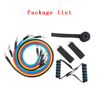 11Pcs Set Outdoor Sports Latex Resistance Bands Workout Exercise Pilates Yoga Crossfit Fitness Tubes Pull Rope Resistance Tubes DBC DS0622