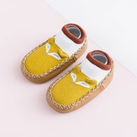 Wholesale cotton skid toddler socks resale online - Children s New Spring new cotton cute baby toddlers sock anti skid leather sole floor socks baby shoes and socks children s Socks