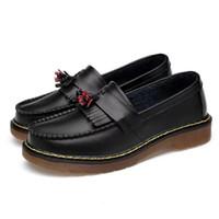 novo dr venda por atacado-Martens de DR 2019 novo Martin botas de baixo para ajudar couro borla Couro Martin Botas Mulheres tênis para caminhada das Mulheres sapatos casuais