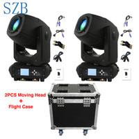 nachtclub bewegte scheinwerfer großhandel-230W LED Moving Head Lichtstrahl Spot Zoom Lyre Rotation 6 + 5 Zwei-Effekt-Prisma mit Flightcase für DJ Nightclub Party / SZB-MH230A