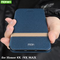ingrosso involucro in pelle cassa in pelle-Flip Cover per Honor 8X Custodia per Huawei Honor 8X Max TPU Coque PU Custodia Folio con Custodia in silicone Capa