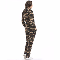 Wholesale sports army camouflage clothing for sale - Group buy Clothing women s camouflage sportswear sweatshirt pants sports long sleeved casual suit fashion slim slimming East suit