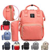 sac à langer achat en gros de-Grande capacité Maternité sac à dos étanche mode maman sacs à dos couches couches sacs mère sacs à main en plein air soins de voyage sacs