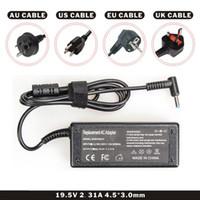 ingrosso cavo dc per hp-Caricabatteria per portatile DC Black Color 19.5V 2.31A 45W per laptop con cavo AC