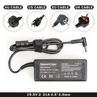 dc-kabel für hp großhandel-Laptop DC Adapter Ladegerät Schwarz Farbe 19,5 V 2.31A 45W für Laptop Mit Netzkabel