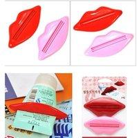 ingrosso labbro dispenser-Top vendita sexy hot lip kiss dispenser tubo bagno dentifricio crema squeezer casa tubo rotolamento titolare squeezer