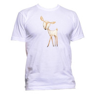 Wholesale deer painting black white resale online - Cute Deer Painting Unisex T Shirt Mens Womens Fashion Comedy Cool Funny Hipster Size Discout Hot New Tshirt Top T shirt