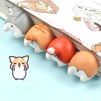 karikatür kıç toptan satış-Güzel Karikatür Köpek Kedi Hamster Tilki Ass Imleri Yenilik Kitap Okuma Öğe Çocuklar Çocuklar için Yaratıcı Hediye Kırtasiye GB1109