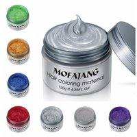 Wholesale easy hairs resale online - Mofajang Unisex DIY Hair Color Wax Mud Cream Temporary Modeling Easy Wash Colors fashion cosplay Hari styling tool
