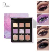 ingrosso kit trucco glitter-Pudaier Glitter Sequin Eyeshadow Palette 9 colori Impermeabile Durevole Lucido Pigmentato Ombretto Trucco Kit cosmetico