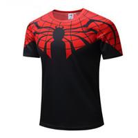 tişört batman toptan satış-Yeni Batman Spiderman Ironman Superman Kaptan Amerika Kış asker Marvel T Shirt Avengers Kostüm Comics Süper Kahraman mens