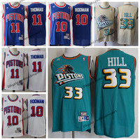 3627eedfc Vintage Mens #33 Detroit Grant Hill Pistons 1996 Classic Gold Basketball  Jersey Cheap Dennis Rodman Isiah Thomas Stitched Shirts S-XXL