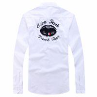 camisas de polo diseñadas al por mayor-Polo Eden Park Chemise camisas masculinas de los hombres tops Niza calidad de la manera del diseño de marca camisas de algodón bordado sólido casuales M L XL XXL