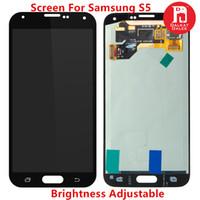lcd pour samsung galaxy s5 achat en gros de-Ecran LCD pour Samsung Galaxy S5 i9600 G900, série G900F Luminosité Remplacement de l'écran tactile réglable Noir Blanc 100% Test
