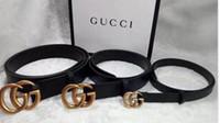 ingrosso cinture in pelle solida-Cinghie di marca Italia Tops Fashion Solid Big buckle Cintura di marca in vera pelle Cintura di lusso per uomo Jeans donna cintura