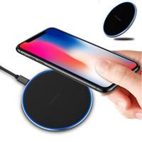 iphone aydınlatma paketi toptan satış-KD-1 Kablosuz Şarj Qi Hızlı Şarj Güç Şarj için LED Işık iPhone 8 Artı iPhone X Perakende Paketi ile Samsung S8 Artı Note8