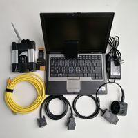 ücretsiz wifi aracı toptan satış-Yüksek kaliteli D630 kullanılmış dizüstü 4G + BMW + V12.2019 Yumuşak eşya 480GB SSD Araç oto tanı için Wifi ICOM Sonraki ve program Ücretsiz Kargo