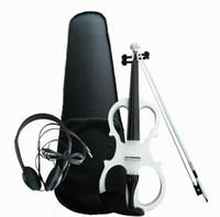 botões de instrumentos venda por atacado-Manual direto da fábrica eletrônica eletroacústica violino adulto branco violino ebony knob instrumento musical atacado