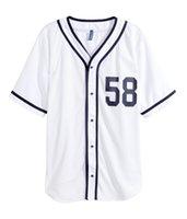 camo beyzbol formaları toptan satış-2019 Camo Özel Renk Yeni Erkekler Beyzbol Forması Genç Basit Düzgün Formalar Id 0000178 Ucuz