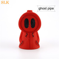 Wholesale ghost bongs for sale - Group buy 4 quot straight tube bong colorful silicone ghost bubbler pipe Siliclab unique design honey straw dab rigs with brand pack box