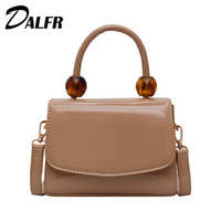 Wholesale hand bag black brown for sale - Group buy DALFR Women Flap Bag Fashion Beading Shoulder Bags Ladies High Quality PU Hand Bag Solid Vintage Designer Bags Tote